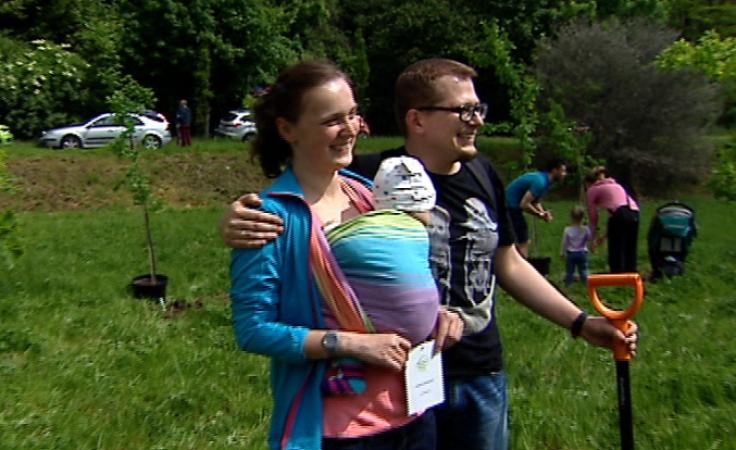 27 maja na łące przy ul. ks. Józefa krakowianie posadzili 200 drzew.