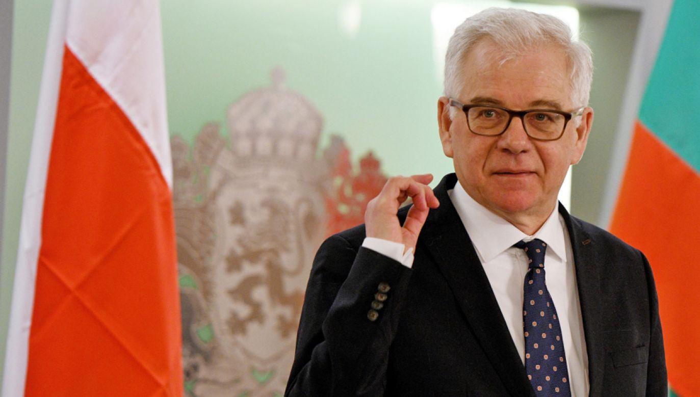 Minister spraw zagranicznych Jacek Czaputowicz (fot. EPA/VASSIL DONEV)