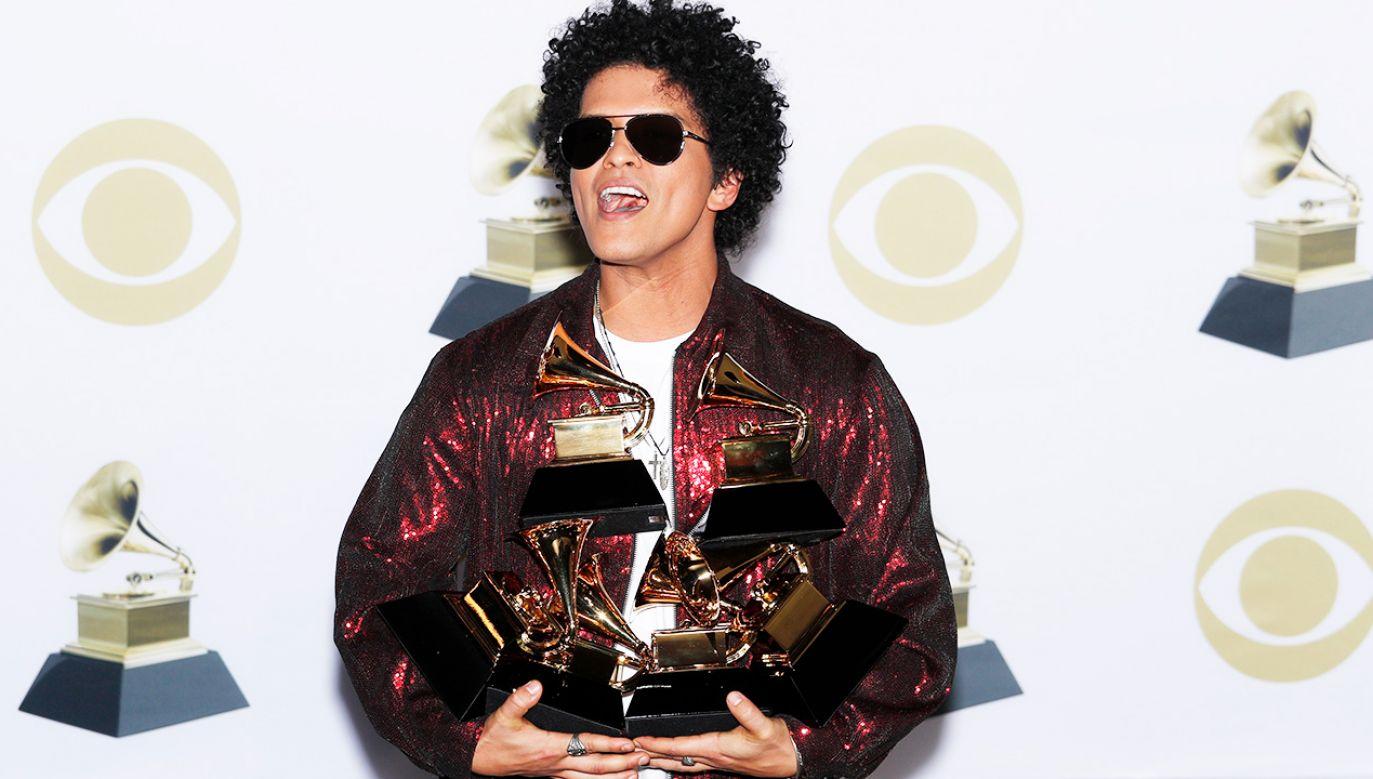 Bruno Mars (fot. PAP/ EPA/JUSTIN LANE)