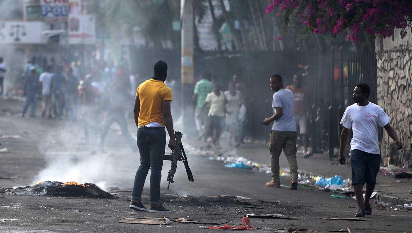 Od 7 lutego na Haiti organizowane są antyrządowe protesty – dochodzi do starć pomiędzy siłami rządowymi a demonstrantami (fot. REUTERS/Ivan Alvarado)