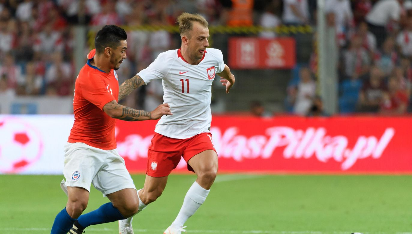 Under the previous national team manager, Kamil Grosicki (C) was directly involved in scoring 28 goals, a result inferior only to Robert Lewandowski. Photo: PAP/Jakub Kaczmarczyk