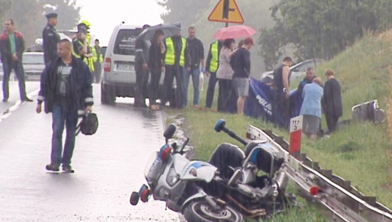 31-letni policjant zginął na miejscu (fot. TVP)