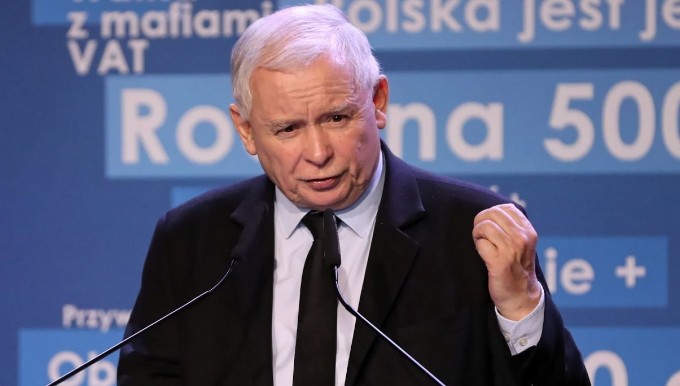 The leader of the ruling Law and Justice (PiS) party Jarosław Kaczyński. Photo: PAP/Grzegorz Momot