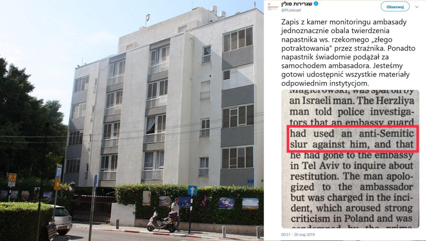 """""""Jesteśmy gotowi udostępnić wszystkie materiały odpowiednim instytucjom"""" – czytamy na Twitterze @PLinIsrael (fot. pl.wikipedia.org/TT/PLinIsrael)"""