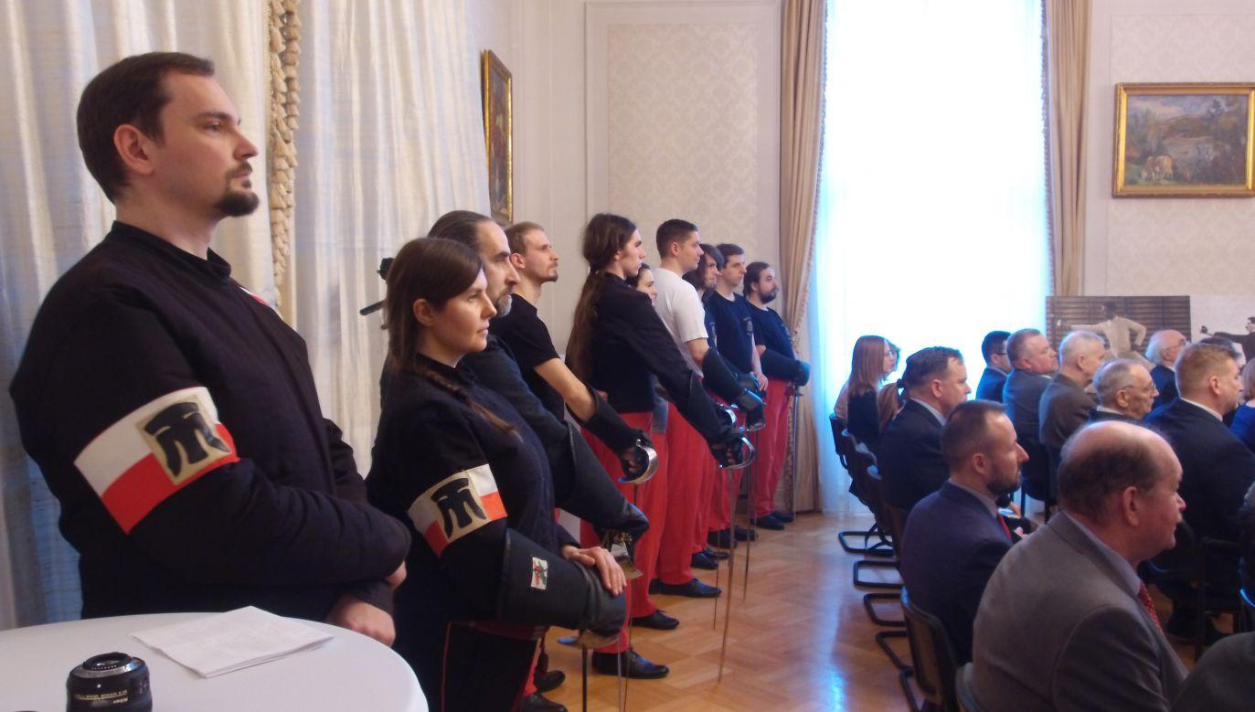 Spotkanie i pokaz odbyły się w węgierskiej ambasadzie (fot. tvp.info/Filip Styczyński)