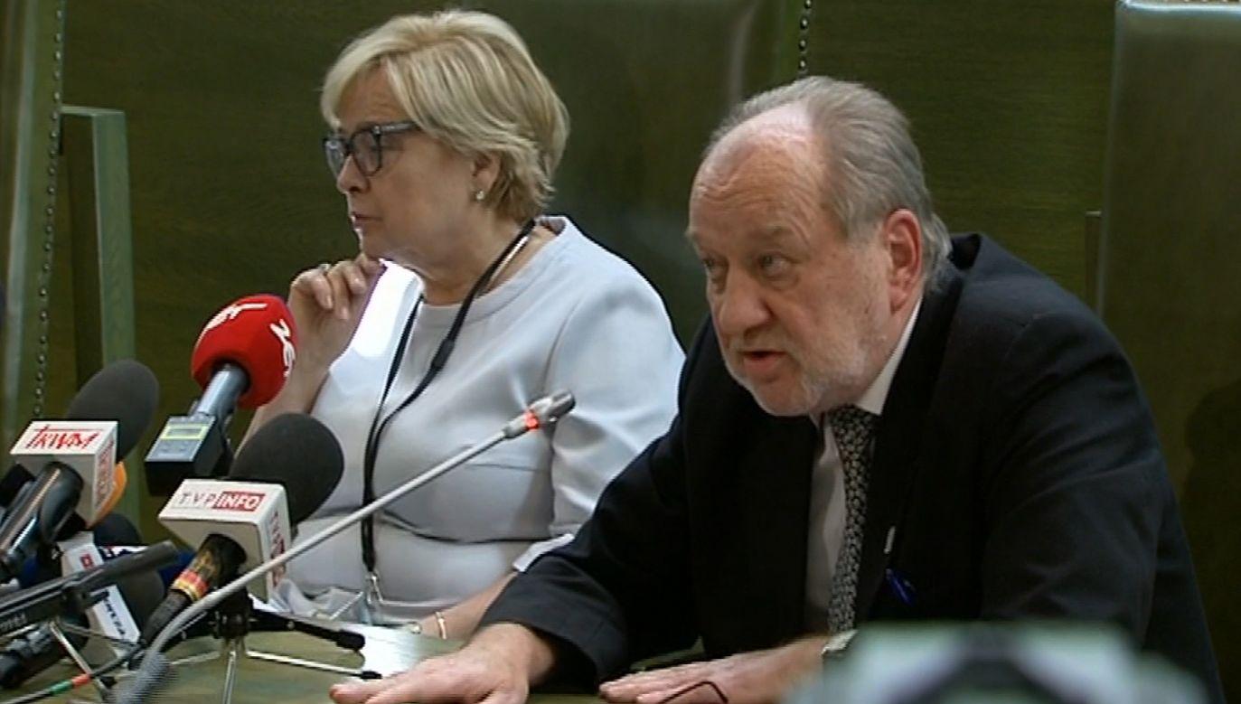 """""""Był bardzo skrupulatny"""", opisuje sędziego Iwulskiego skazany przez niego opozycjonista (fot. TVP)"""