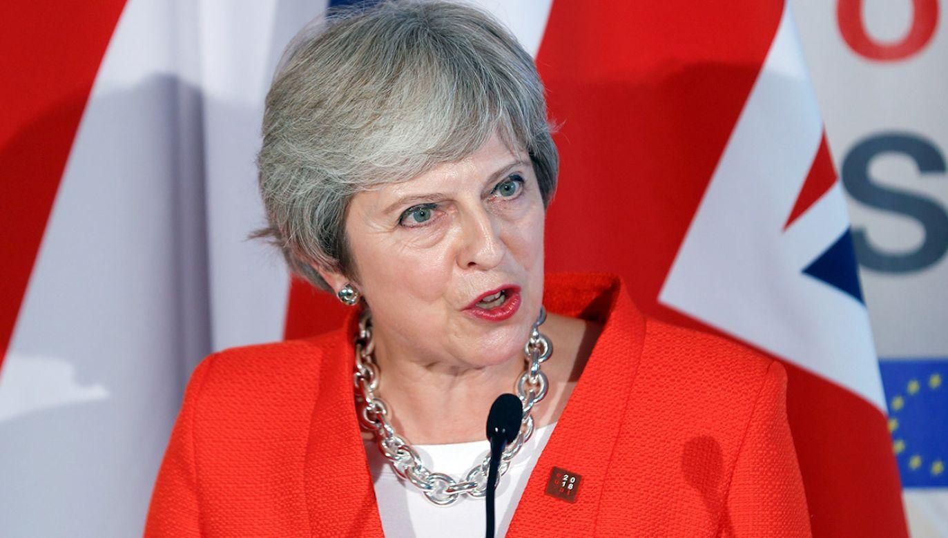 Premier Wielkiej Brytanii powiedziała, że jej obywatele już raz zabrali głos w sprawie obecności kraju w UE (fot. REUTERS/Leonhard Foeger)