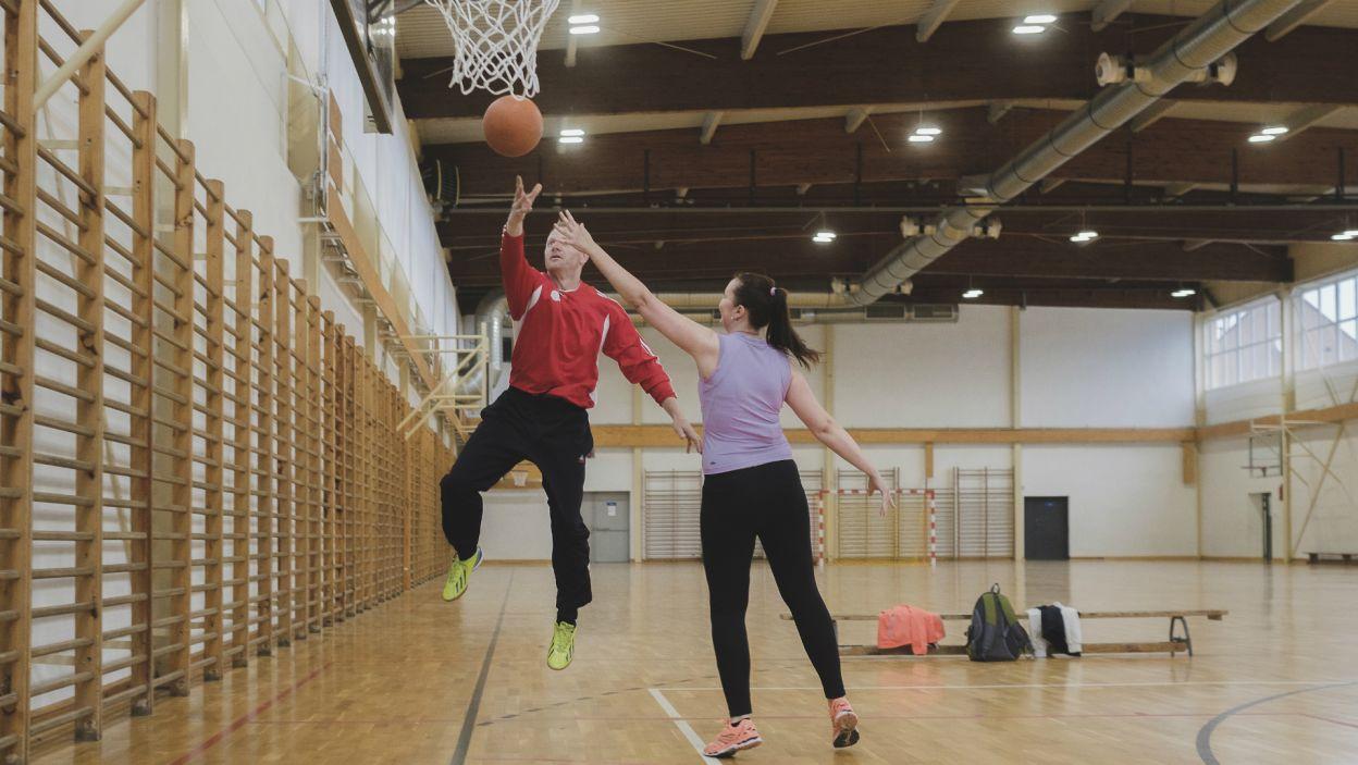 Tymczasem, na sportową randkę, Marek zabrał Joannę (fot. TVP)