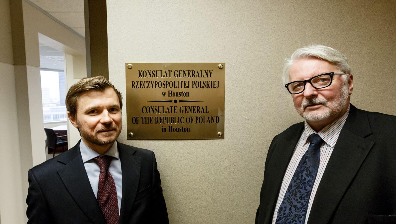 W uroczystości inauguracji placówki wziął udział minister spraw zagranicznych Witold Waszczykowski (fot. MSZ)
