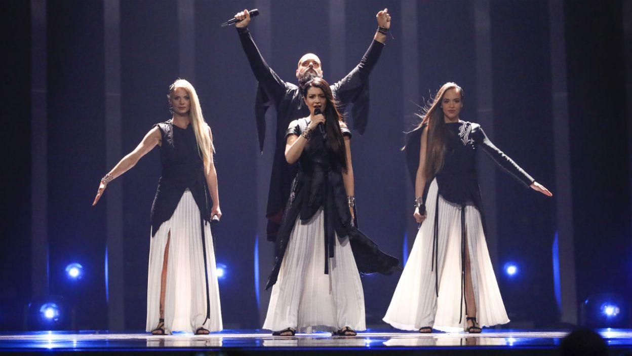 Tradycja połączona z nowoczesnością. Na to postawił Sanja Ilić i Balkanika! Reprezentacja Serbii wie, jak zwrócić na siebie uwagę (fot. Andreas Putting/eurovision.tv)
