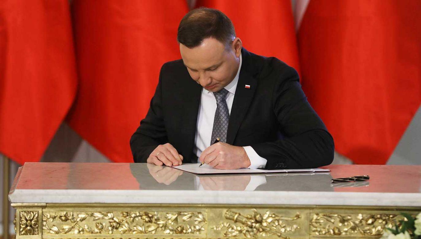 Prezydent podpisał ustawę o Sądzie Najwyższym (fot. arch. PAP/Rafał Guz)