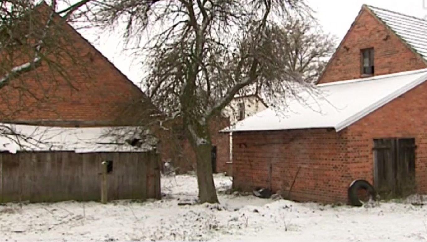 Wokół domu zakopane były szczątki czworga dzieci (fot. TVP3 Opole)