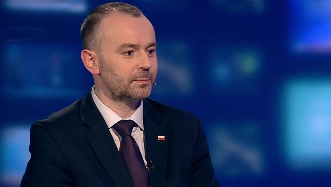 Wiceszel kancelarii prezydenta Paweł Mucha (fot. TVP Info)