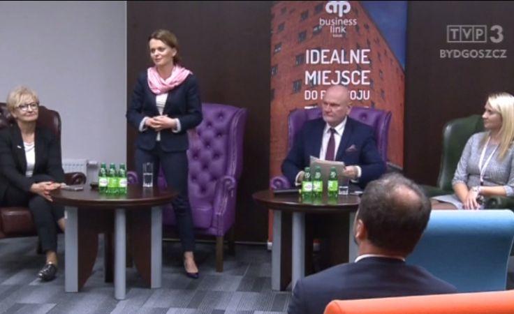 Dyskusja wiceminister z przedsiębiorcami o wsparciu dla nich
