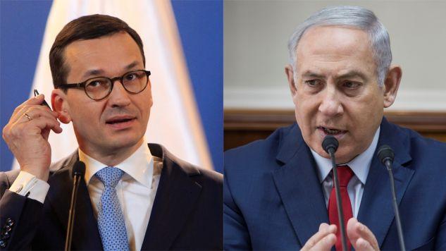 Premier Polski Mateusz Morawiecki i Premier Izraela Benjamin Netanjahu (fot. REUTERS/Bernadett Szabo/Tsafrir Abayov/Pool)