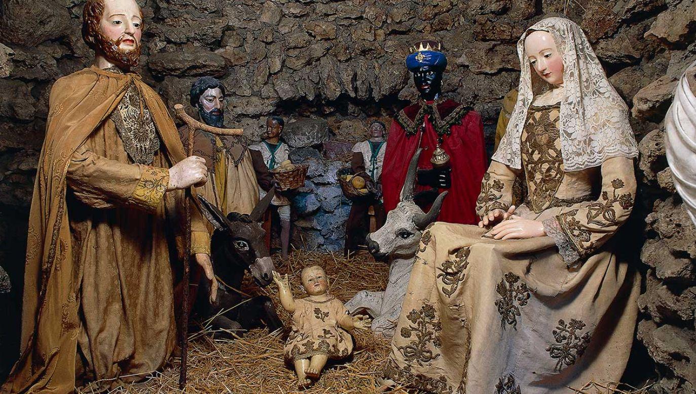 Szopka bożonarodzeniowa w Sanktuarium Santa Maria della Quercia we włoskim mieście Viterbo (fot. DeAgostini/Getty Images)