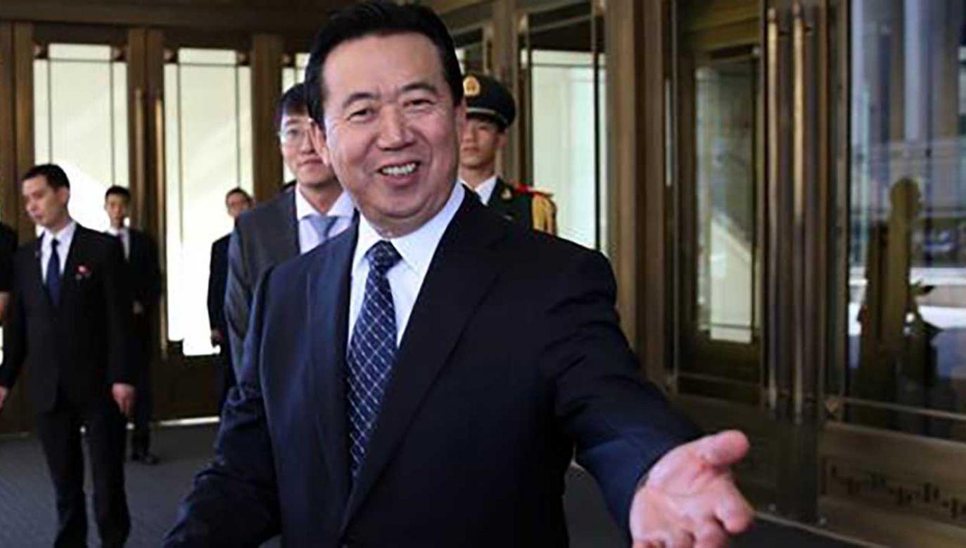 Meng Hongwei był prezesem Interpolu oraz wiceministrem bezpieczeństwa publicznego Chin (fot.  REUTERS/Stringer)
