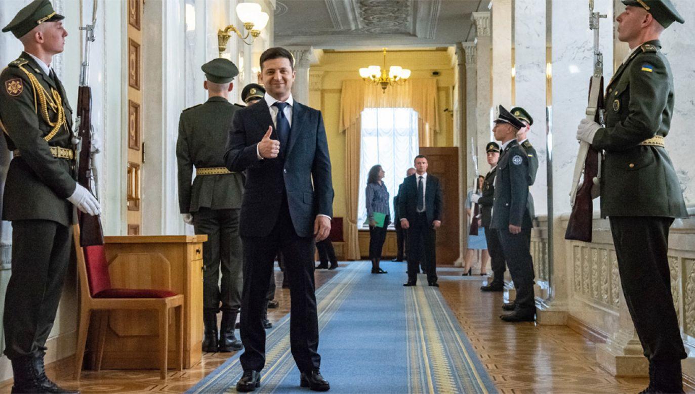 Nowy prezydent Ukrainy Wołodymyr Zełenski rozpisał przedterminowe wybory (fot. PAP/EPA/ZOYA SHU / POOL)