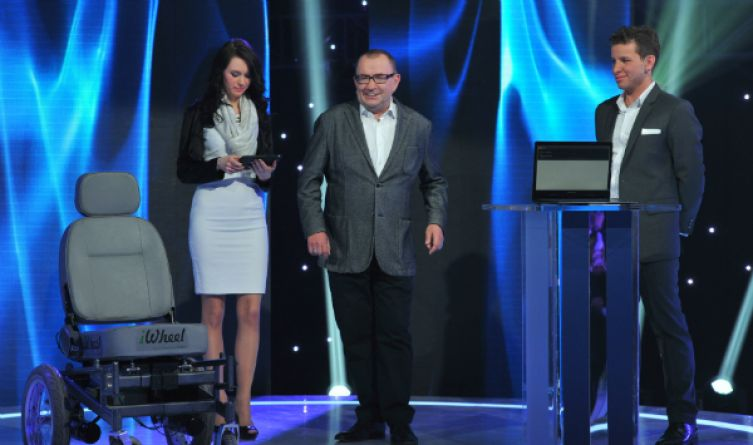 Kamila Rudnicka i  Patryk Arłamowski  to autorzy Polskiego Wynalazku 2014 (fot. J. Bogacz/TVP)