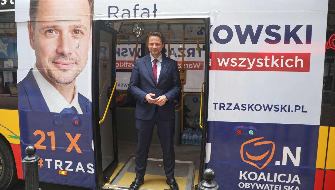 Kandydat Koalicji Obywatelskiej na prezydenta stolicy, poseł PO Rafał Trzaskowski (fot. PAP/Tomasz Gzell)