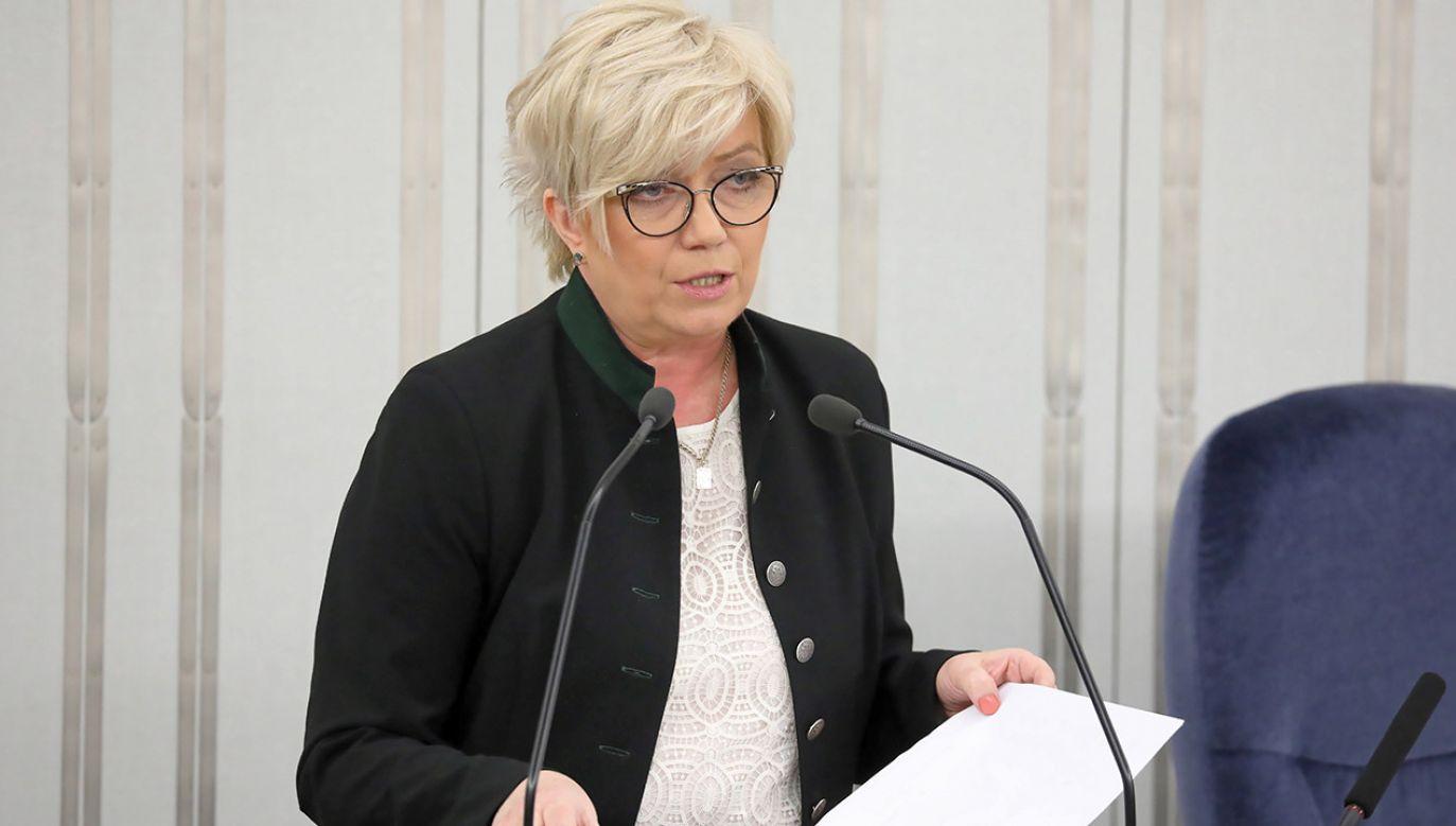 Prezes TK Julia Przyłębska (fot. PAP/Tomasz Gzell)