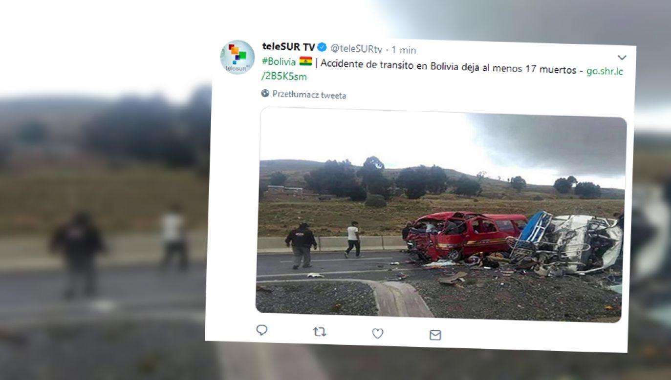 16 osób poniosło śmierć na miejscu, jedna zmarła po przetransportowaniu do szpitala (fot. Twitter / @teleSURtv)