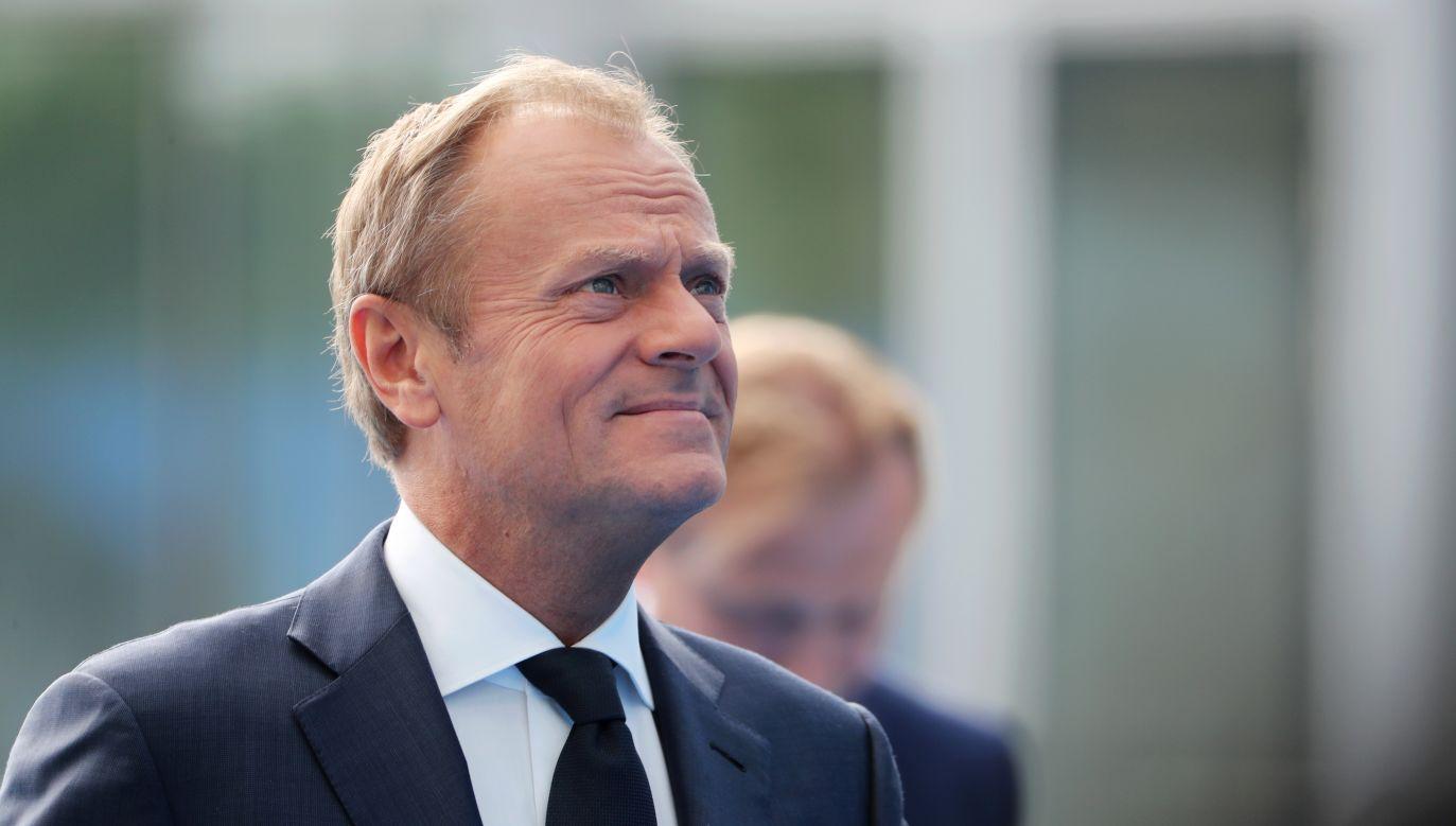 Donald Tusk zdaniem Mazurek nie będzie kandydował na prezydenta Polski w następnych wyborach (fot. TATYANA ZENKOVICH / POOL, PAP/EPA)