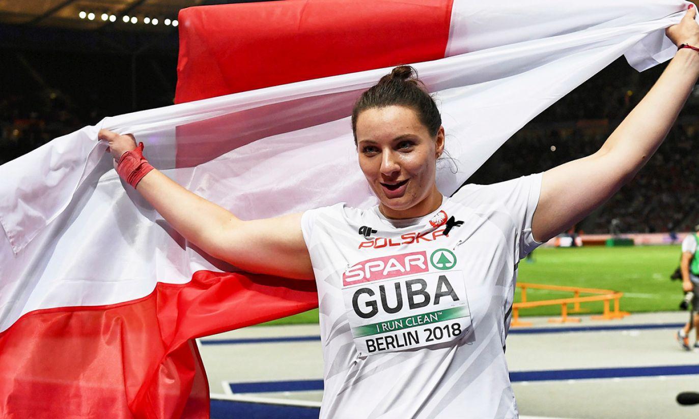 Paulina Guba zdobyła złoty medal w konkursie pchnięcia kulą (fot. PAP/Adam Warżawa)