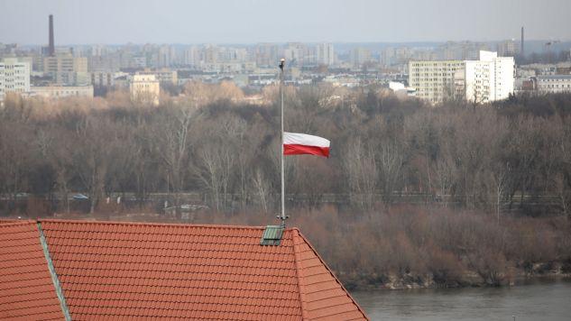 """Rozmowa w programie """"Gość Wiadomości"""" dotyczyła """"mowy nienawiści"""" i reakcji polityków na apele o rezygnację z takiej retoryki (fot. PAP/Leszek Szymański)"""