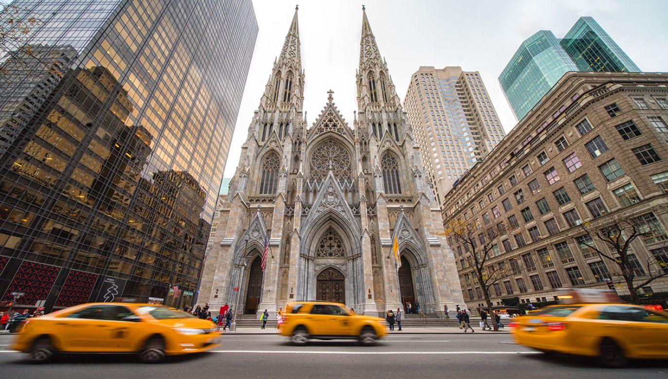 Policja w Nowym Jorku zatrzymała 37-letniego mężczyznę, który wszedł z benzyną do katedry świętego Patryka (fot. Shutterstock/Alessandro Colle)