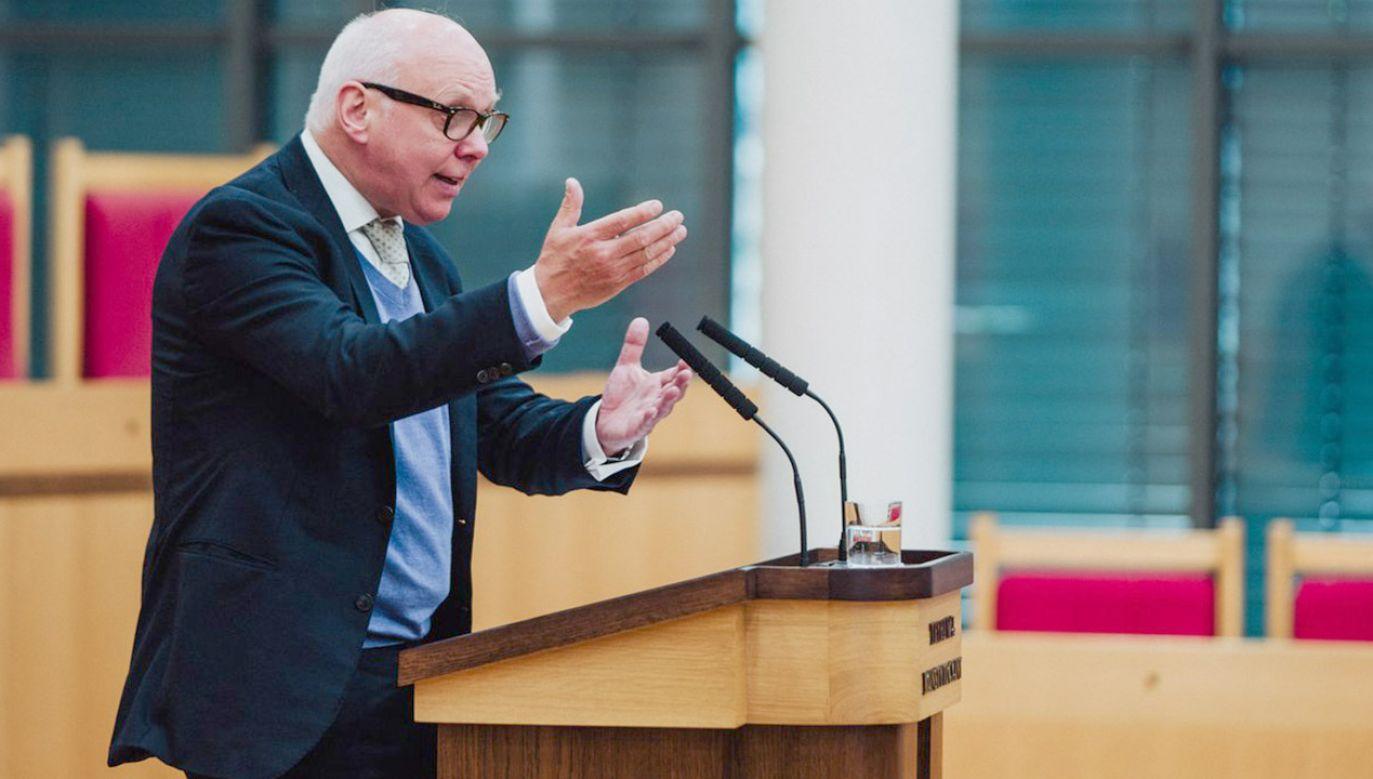 Rząd i Bundestag mają obowiązek pilnować, by uprawnienia UE nie wykraczały poza granice konstytucyjne – tłumaczył gość z Niemiec (fot. tt/@TK_GOV_PL)
