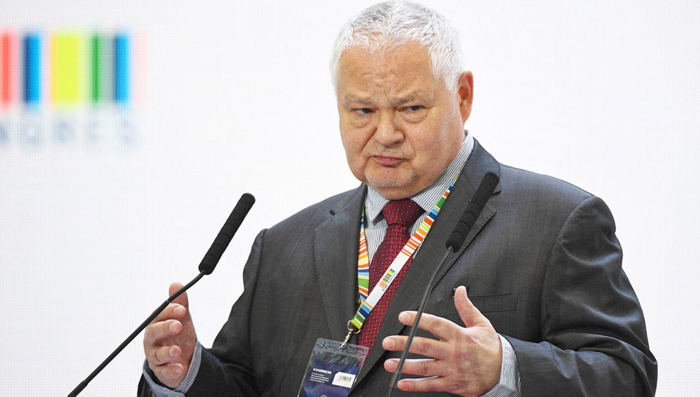 Adam Glapiński zadeklarował, że dopóki będzie prezesem NBP, dopóty Polska nie wejdzie do strefy euro (fot. arch.PAP/Darek Delmanowicz)