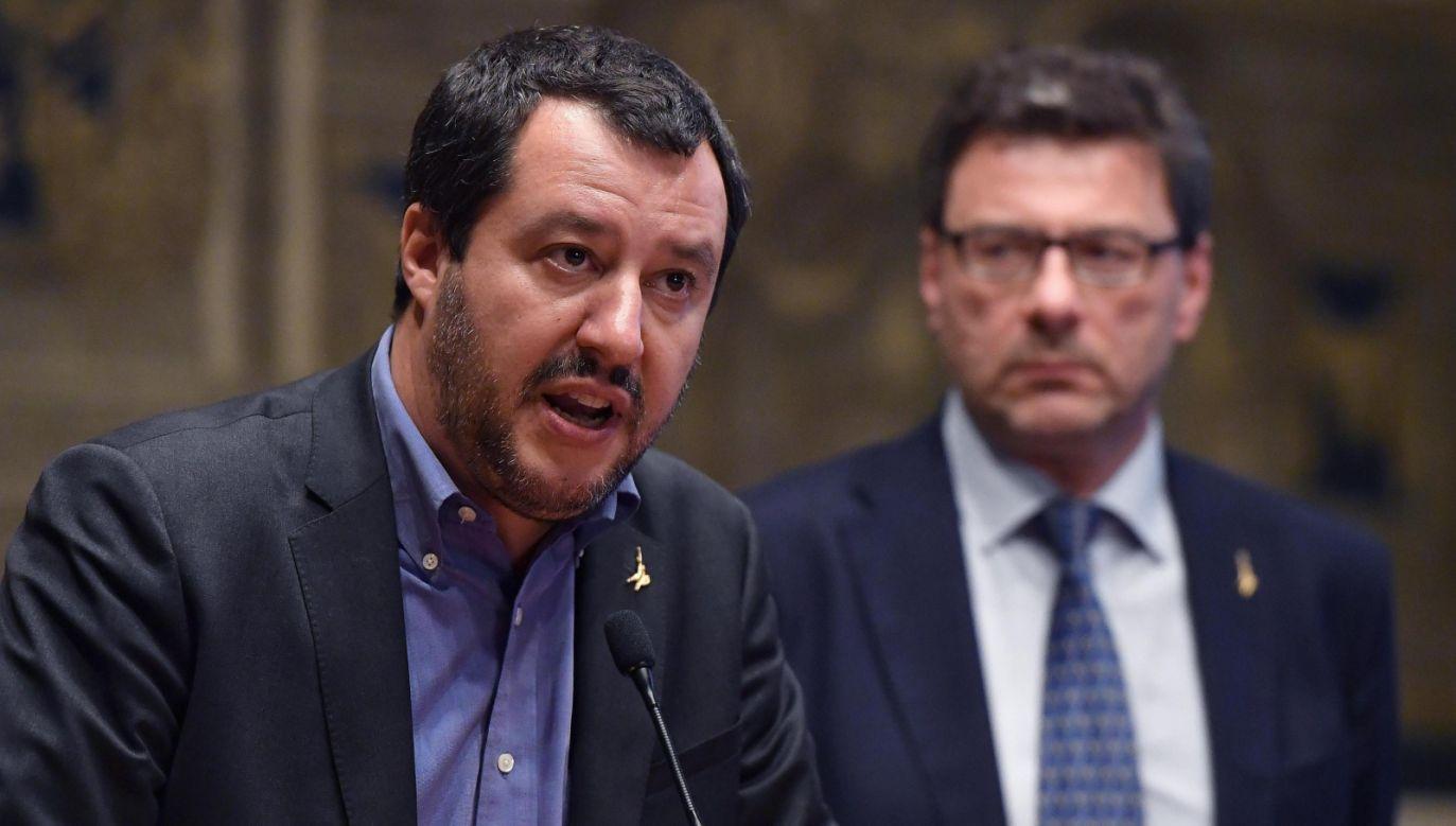 Przywódca eurosceptycznej Ligi Matteo Salvini (fot. PAP/EPA/ETTORE FERRARI)