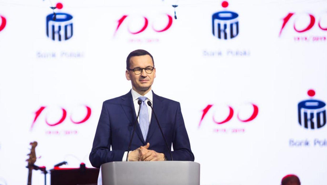 Mateusz Morawiecki wziął udział w gali z okazji 100-lecia banku PKO BP (fot. KPRM)
