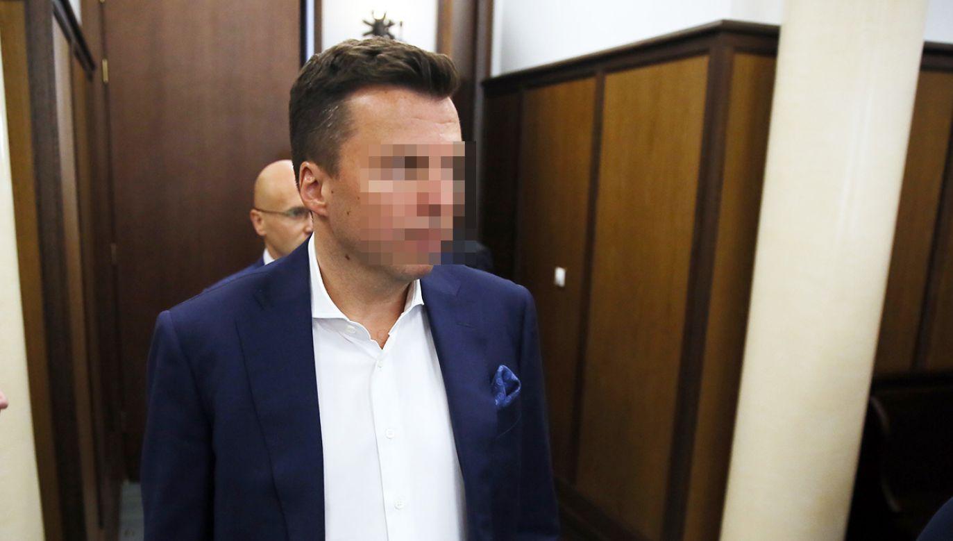 Oskarżony biznesmen Marek F. w Sądzie Okręgowym w Warszawie (fot. arch. PAP/Tomasz Gzell )