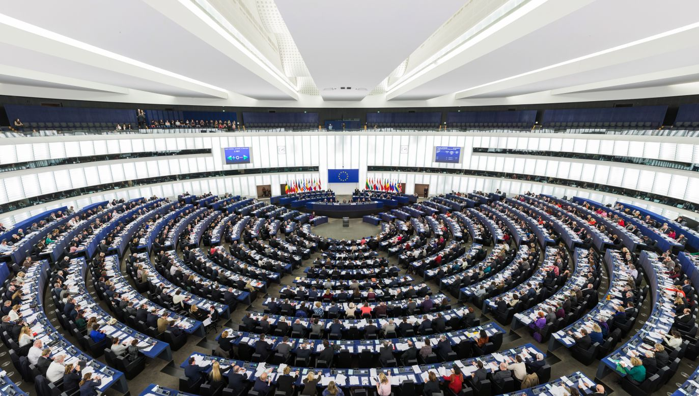 The Hemicycle of the European Parliament in Strasbourg during a plenary session. Photo: Wikimedia Commons
