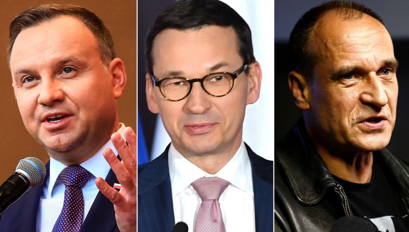 Największym zaufaniem Polaków cieszą się Andrzej Duda, Mateusz Morawiecki i Paweł Kukiz (fot. PAP/EPA/PAP/Maciej Kulczyński/REUTERS/Kacper Pempel)
