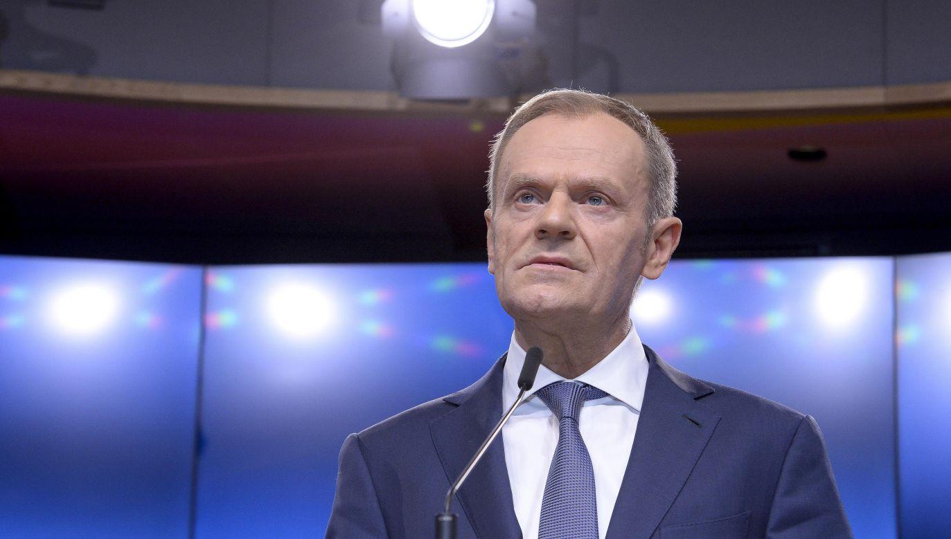 Donald Tusk, przewodniczący Rady Europejskiej (fot. PAP/Wiktor Dąbrowski)