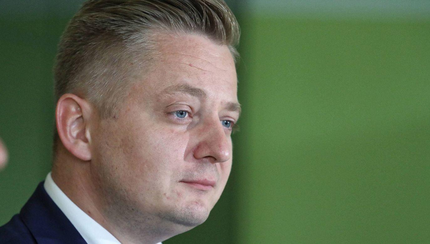 Rzecznik PSL odpowiadał na pytania dotyczące wczorajszej wypowiedzi Piechocińskiego (fot. arch.PAP/Tomasz Gzell)