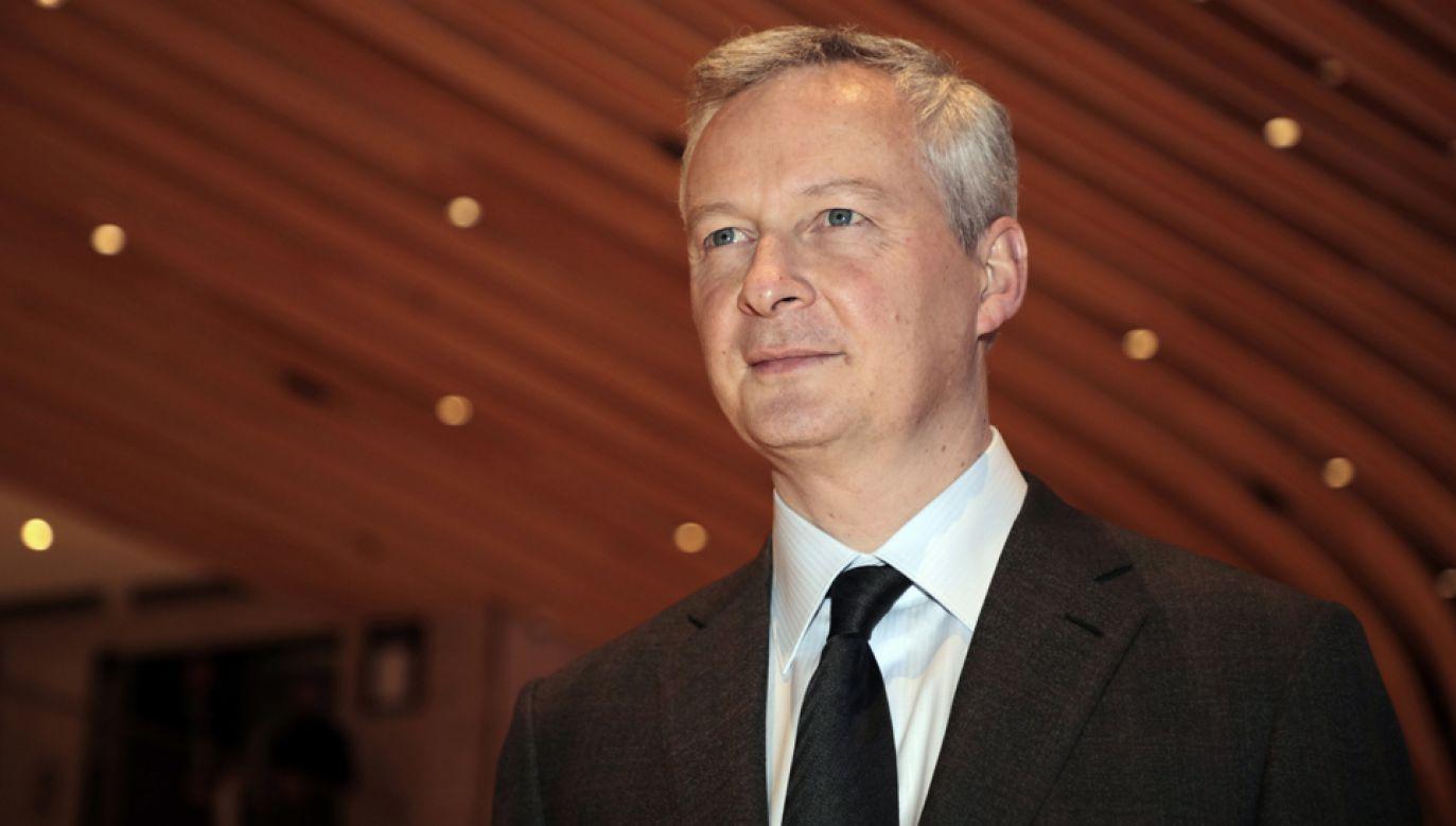 Minister gospodarki i finansów Francji Bruno Le Maire odwiedzi Polskę (fot. PAP/EPA/LUDOVIC MARIN)