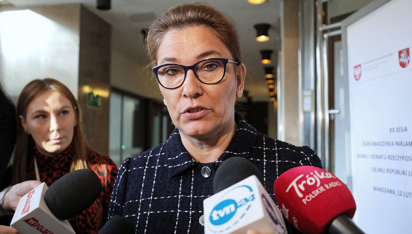 Publikacją zajmują się prawnicy – oświadczyła rzeczniczka PiS (fot. PAP/Paweł Supernak)