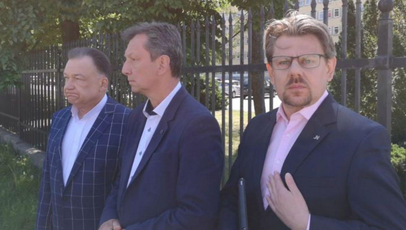Adam Struzik, Andrzej Halicki i Piotr Misiło zbojkotowali program TVP (fot. portal tvp.info)