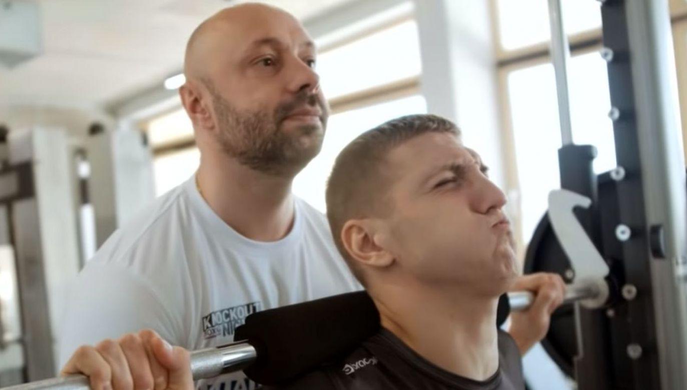 Paweł Gasser i Fiodor Czerkaszyn (fot. instagram.com/knockoutboxingnight)