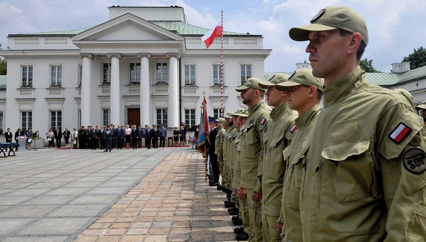 Uroczystości Święta Służby Ochrony Państwa w Belwederze (fot. arch. PAP/Jacek Turczyk)