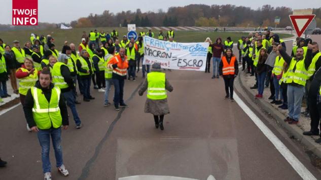 W związku z zapowiedzią wzrostu cen paliw manifestanci od 6:00 rano strajkują (fot. Twoje Info)