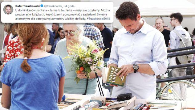 Kandydat  PO i Nowoczesnej na prezydenta Warszawy wybrał się na jarmark (fot. TT/Rafał Trzaskowski)
