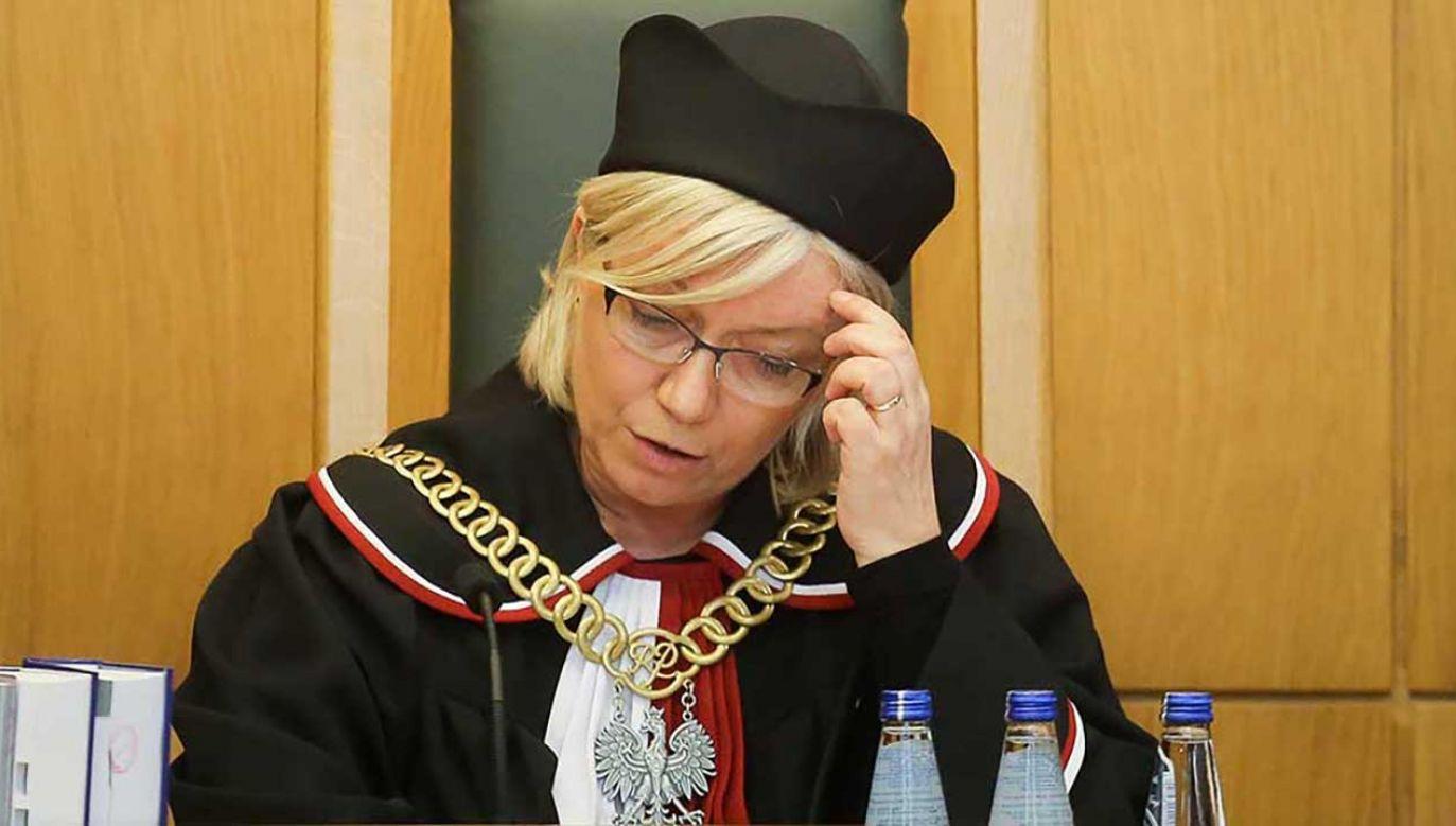 Przyłębska oceniła, że polskie prawo łaski podobne do tego w konstytucji amerykańskiej (fot. arch. PAP/Paweł Supernak)