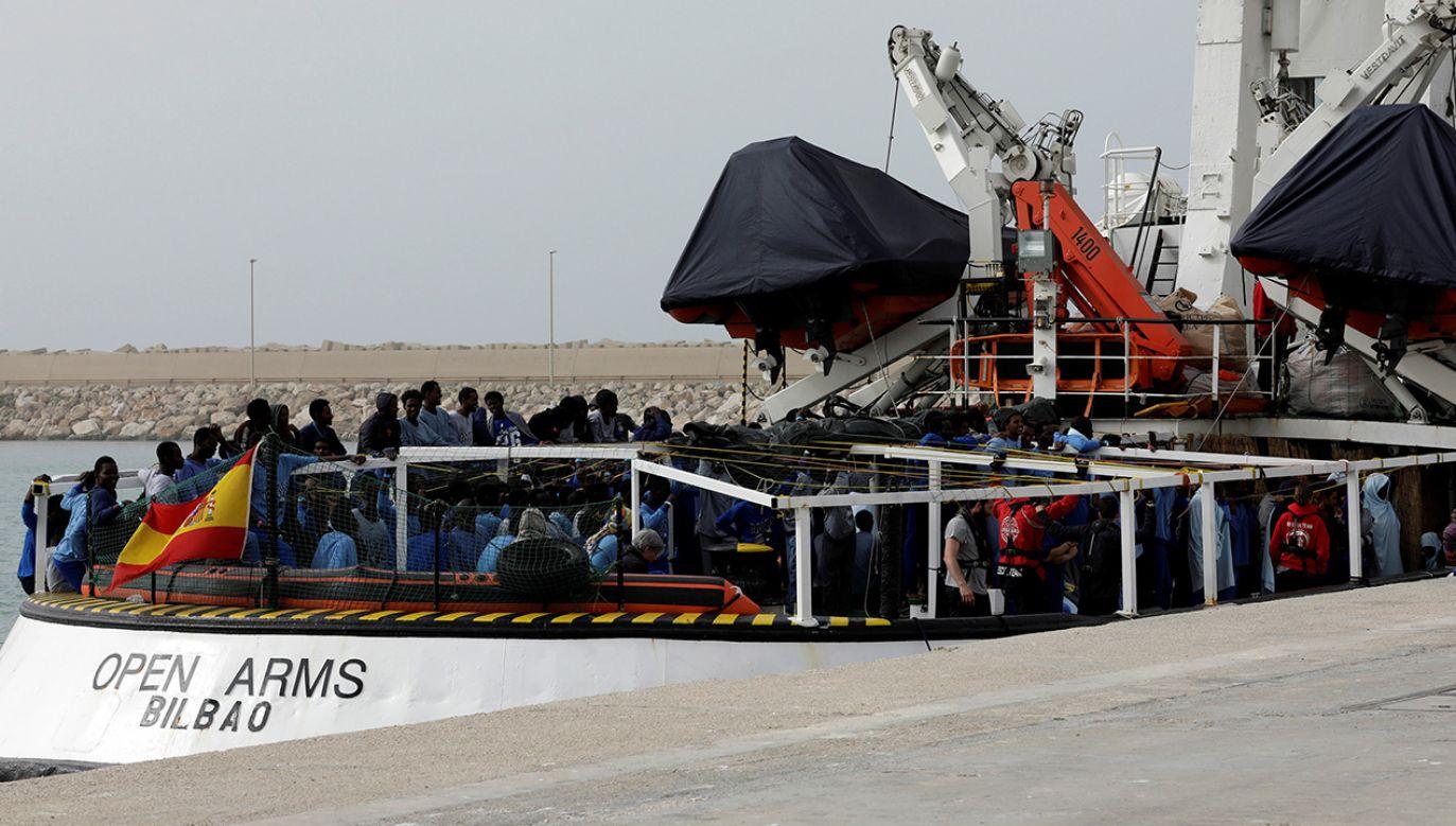 Statek organizacji ProActiva Open Arms (fot. REUTERS/Antonio Parrinello)