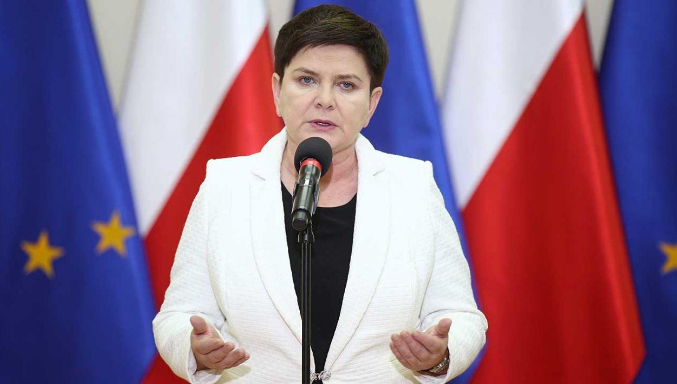 Wicepremier Beata Szydło (fot. PAP/Łukasz Gągulski)