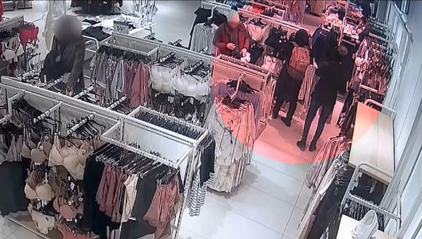 Przyłapane na kradzieży. Nagranie z monitoringu. Policja ostrzega (fot. Policja małopolska)